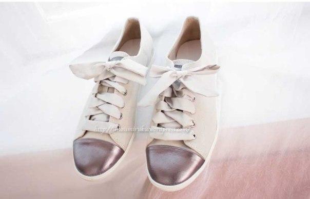 緞帶鞋白色