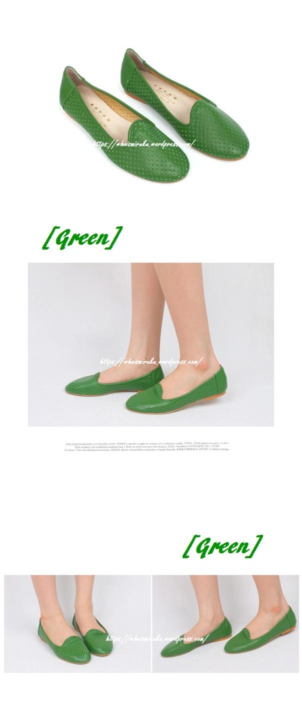 牛皮沖孔平底鞋02-06