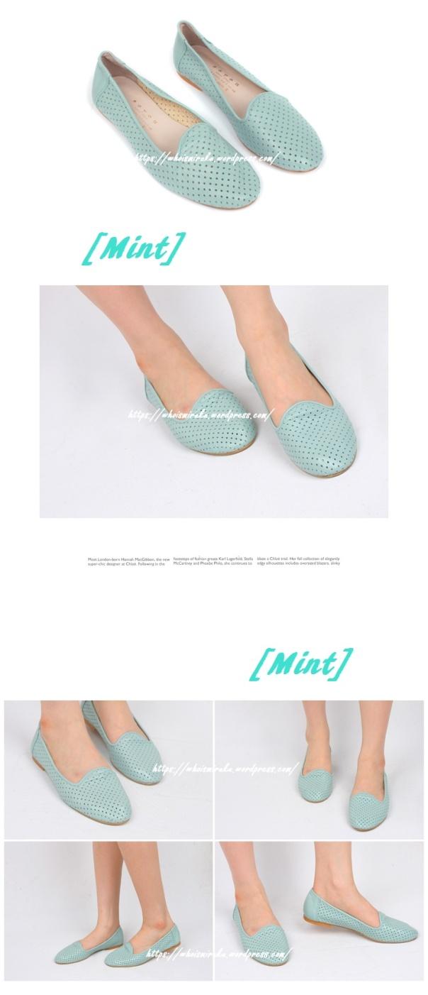 牛皮沖孔平底鞋02-08
