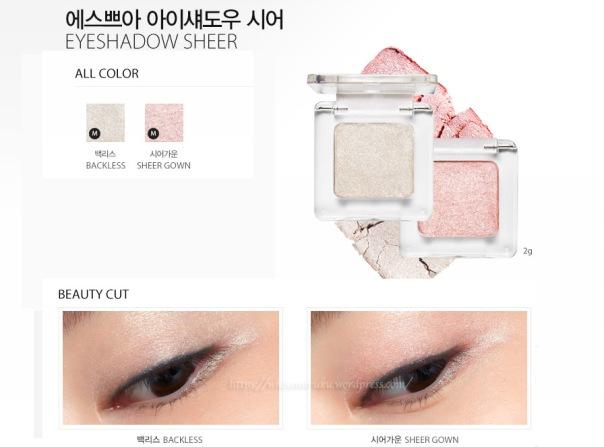 Espoir Eyeshadow Sheer