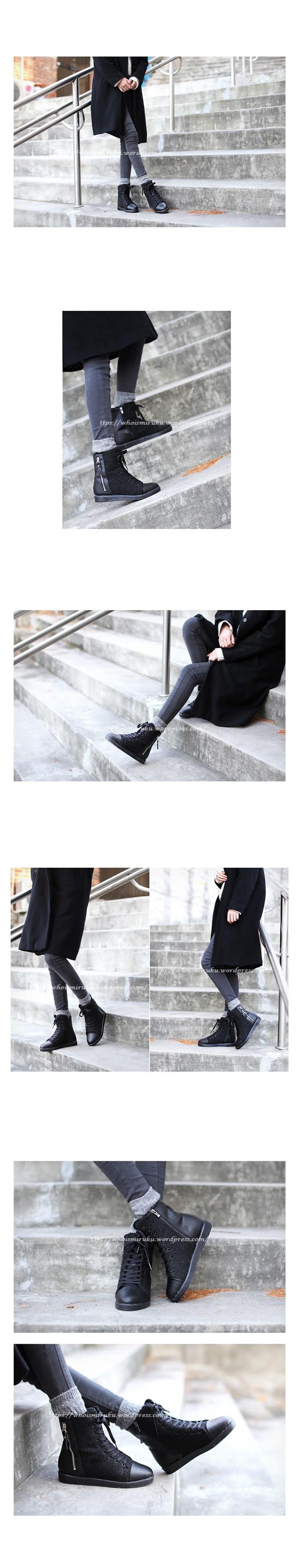 拉鍊毛尼球踝靴-3