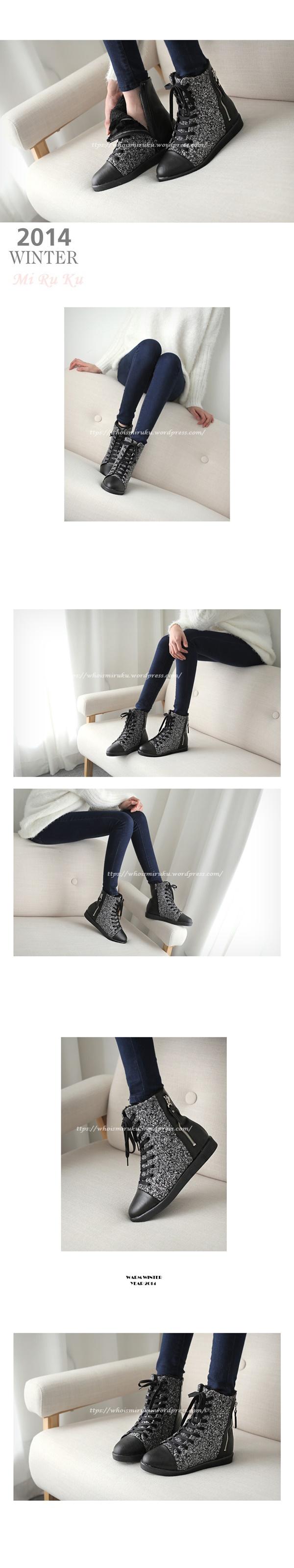 拉鍊毛尼球踝靴-4