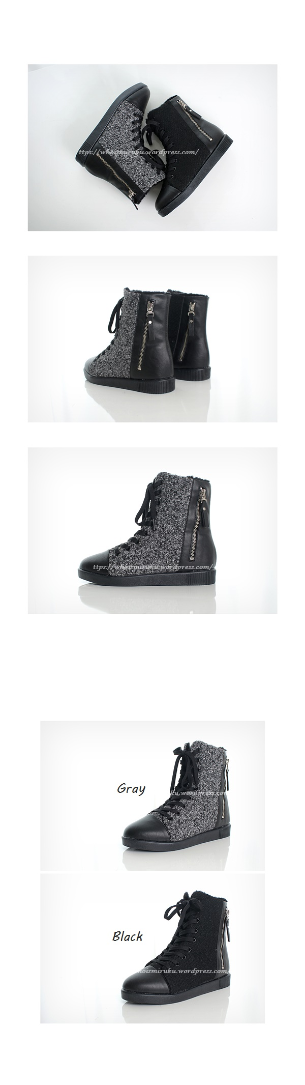 拉鍊毛尼球踝靴-5