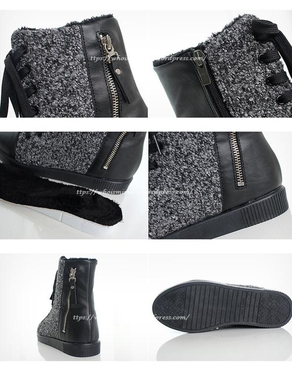 拉鍊毛尼球踝靴-6