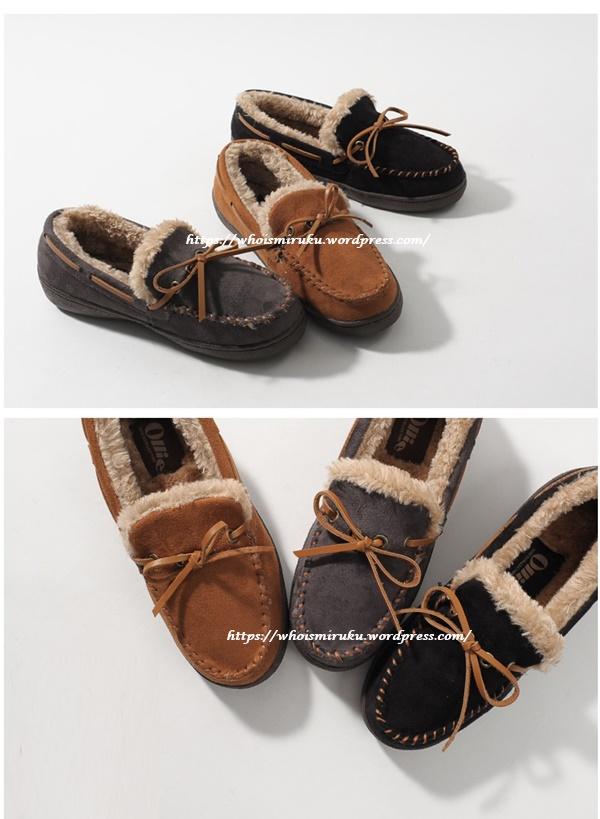 綁帶造型保暖豆豆鞋-1
