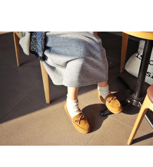 蝴蝶結可愛圓頭平底鞋-1