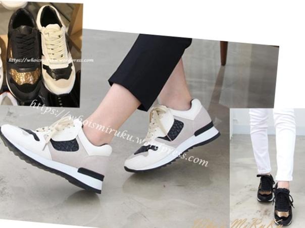 蛇紋皮運動鞋-2