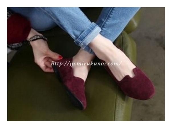 素面平底淑女鞋-2