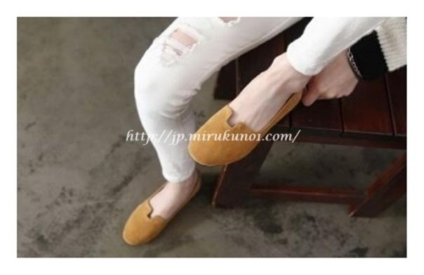 素面平底淑女鞋-3