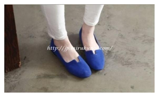 素面平底淑女鞋-5
