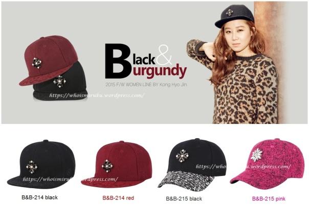 black & burgundy